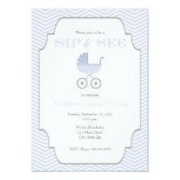 Baby Boy Chevron Sip and See