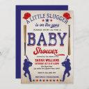 Baby Boy Shower Invitation, Vintage Baseball Invitation