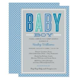 Baby Boy Shower  | Blue and Gray