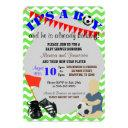 Baby Boy Soccer Baby Shower Invitation