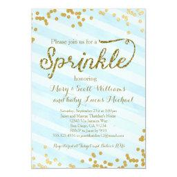 Baby Boy Sprinkle Shower  blue gold