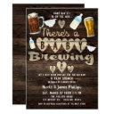 Baby Brewing Beer Party Daddy To Be Couples Shower Invitation