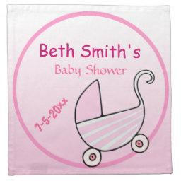 Baby Buggy Baby Shower Cloth Napkin