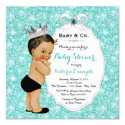 Baby & Co Black Teal Blue Ethnic Boy Baby Shower