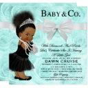 Baby & Co Shower Invitation Dark/bun Puff Ethnic