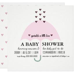 Baby & Co Sprinkle Love Pink Girl Baby Shower Invitation