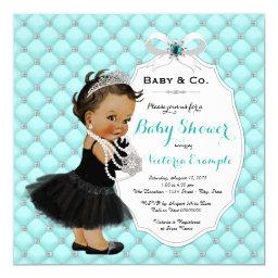 Baby & Co Teal Blue Ethnic Baby Girl Shower