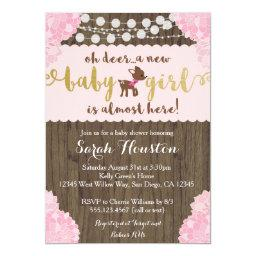 Baby Deer Doe Rustic Girl Shower