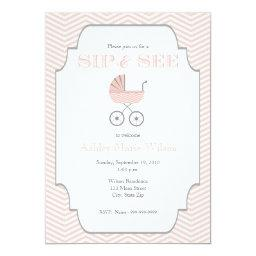 Baby Girl Chevron Sip and See
