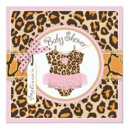 Baby Girl Pink Tutu Cheetah Print Baby Shower
