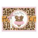 Baby Girl Tutu Cheetah Print Baby Shower Invitation
