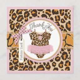 Baby Girl Tutu Cheetah Print Thank You
