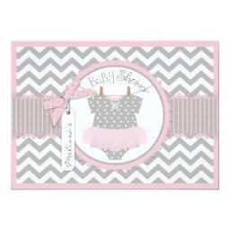 Baby Girl Tutu Chevron Print Baby Shower