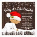 Baby Its Cold Outside Boys Christmas Baby Shower Invitation