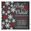 Baby It's Cold Outside Chalkboard Red Baby Shower