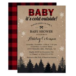 Baby Its Cold Outside Lumberjack Plaid Baby Shower