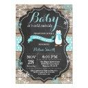 Baby Its Cold Outside Penguin Aqua Baby Shower Invitation