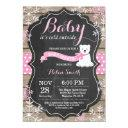Baby Its Cold Outside Polar Bear Girl Baby Shower Invitations
