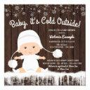Baby Its Cold Outside Snow Baby Shower Invitations