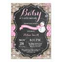 Baby Its Cold Outside Snowman Girl Baby Shower Invitation
