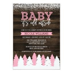 Baby It's Cold Outside Winter Girl Baby Shower