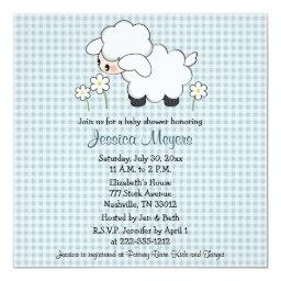 Baby Lamb  Blue Gingham