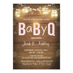 Baby Q  Coed BBQ Baby Shower Rustic Pink