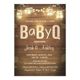 Baby Q  Coed BBQ Baby Shower Rustic Wood