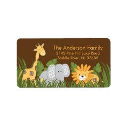 Baby Safari Jungle Address Label