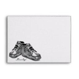 Baby Shoes Baby Announcement Shower Envelope