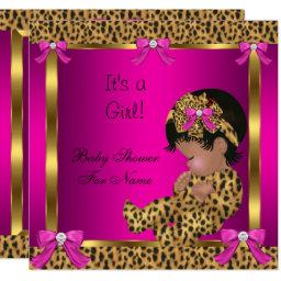 Baby Shower Baby Cute Girl Leopard Pink Gold 2