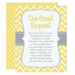 Baby Shower Book Request | Yellow and Gray