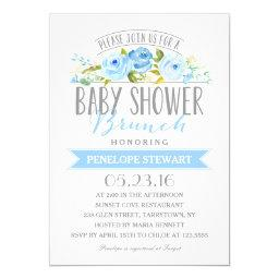 Baby Shower Brunch Blue | Baby Shower