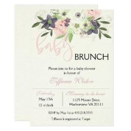 Baby Shower Brunch  Floral Pink Girl