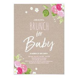 Baby shower brunch  Floral Rustic Pink