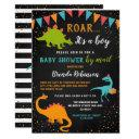 Baby Shower By Mail Dinosaur Roar Chalkboard Invitation