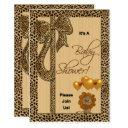 Baby Shower Cheetah Print Gender Neutral Invitation