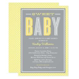 Baby Shower | Chic Type in Yellow and Gray
