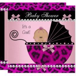 Cute Baby Girl Hot Pink Leopard