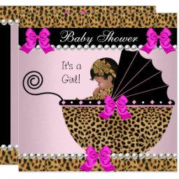 Baby Shower Cute Baby Girl Leopard Hot Pink