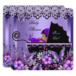 Baby Shower Cute Baby Girl Purple Butterfly 3a