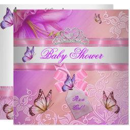 Girl Pink Purple Princess Butterfly