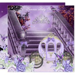 Baby Shower Girl Princess Carriage Lavender