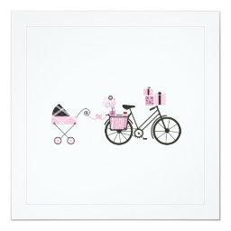 Baby Shower  - Bicycle and Baby Carriage