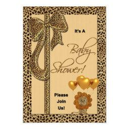 Baby Shower  Cheetah Print