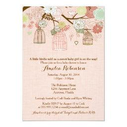 Baby Shower  - Hanging Cages & Jars Pink