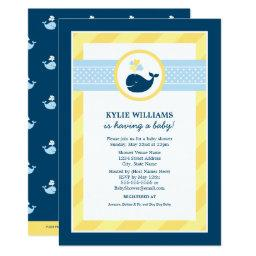Baby Shower  | Navy Blue Nautical Whale