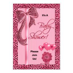 Baby Shower  Pink Cheetah Print