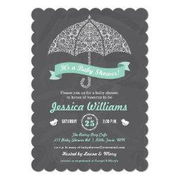 Baby Shower Invitations With Umbrella