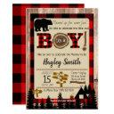 Baby Shower Little Bear Flannel Lumberjack Theme